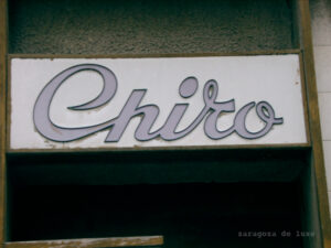 Rótulo de Perfumerías Chiro