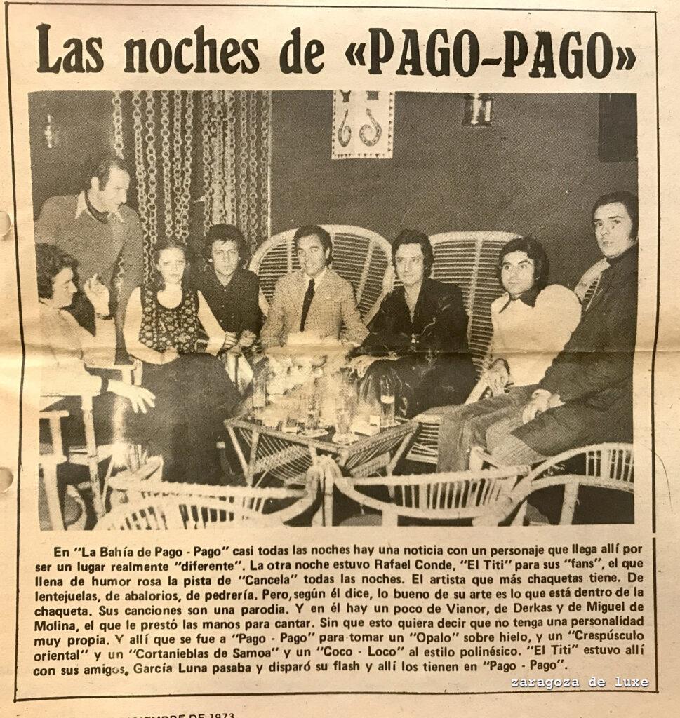 Visita de El Titi a Bahía de Pago Pago, 11 de diciembre de 1973