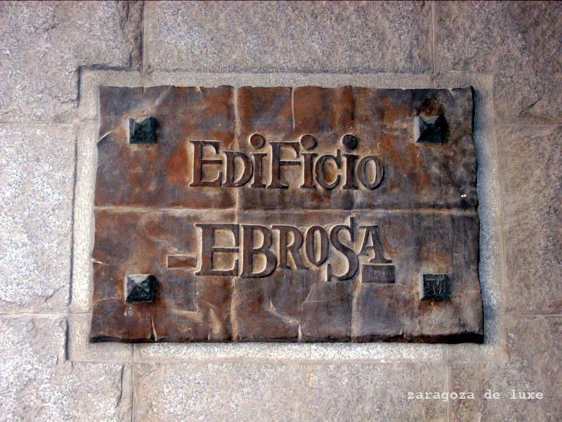 Rótulo Edificio Ebrosa